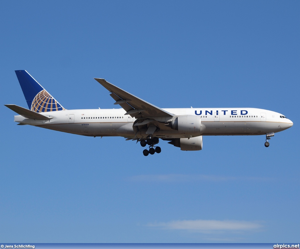 N78004, Boeing 777-200ER, United Airlines
