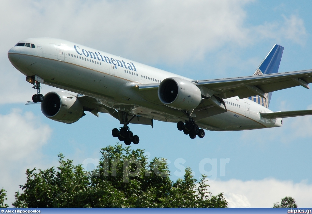 N79011, Boeing 777-200ER, Continental Airlines