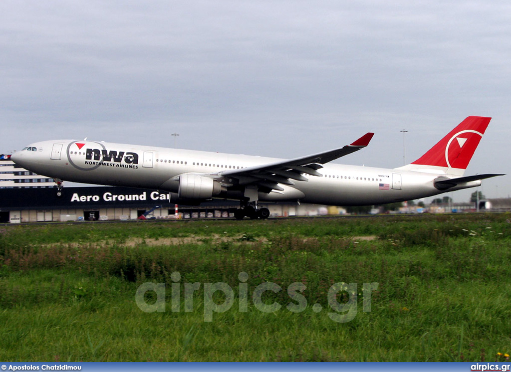 N807NW, Airbus A330-300, Northwest Airlines