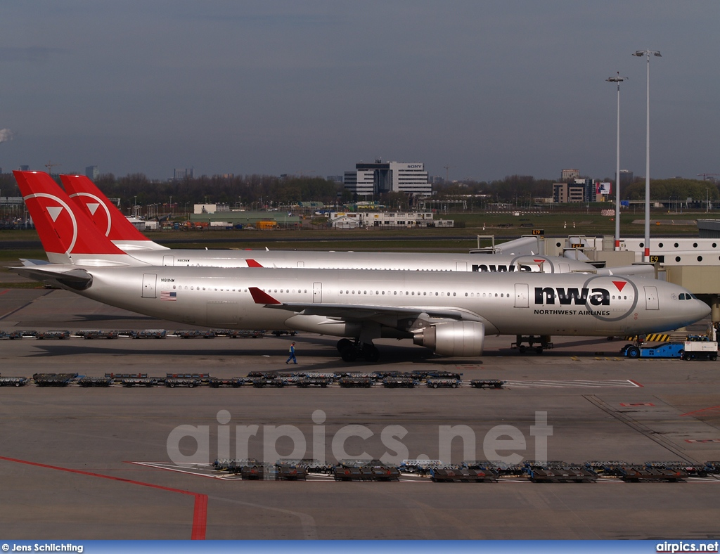 N811NW, Airbus A330-300, Northwest Airlines