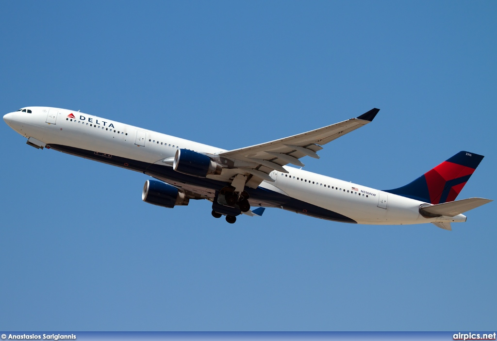 N816NW, Airbus A330-300, Delta Air Lines