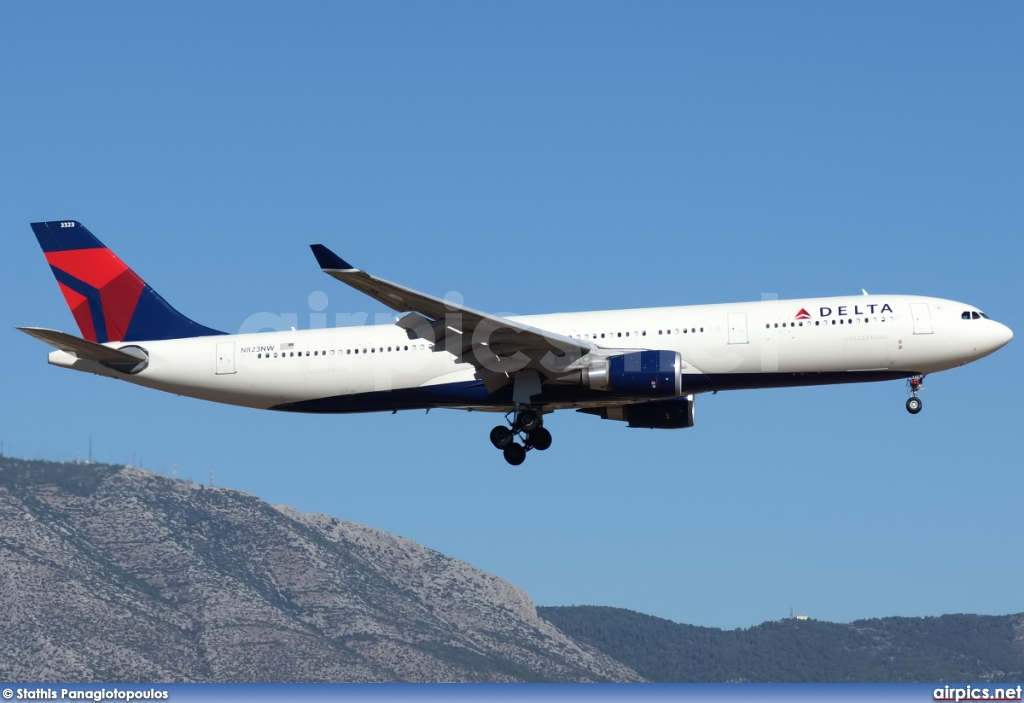 N823NW, Airbus A330-300, Delta Air Lines
