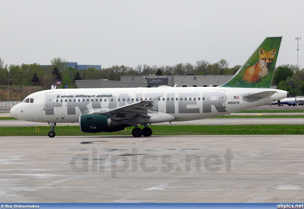 N912FR, Airbus A319-100, Frontier Airlines