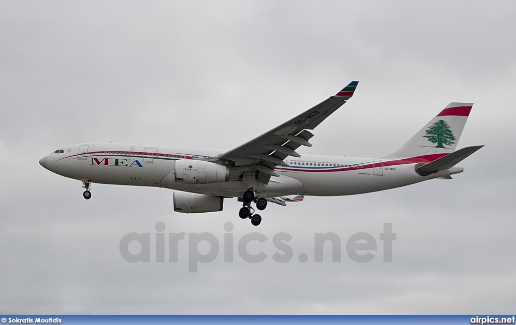 OD-MEB, Airbus A330-200, Middle East Airlines (MEA)