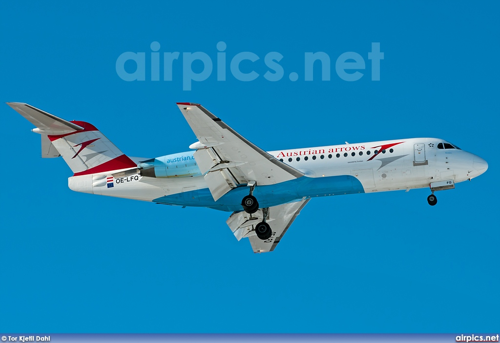 OE-LFQ, Fokker 70, Austrian Arrows (Tyrolean Airways)