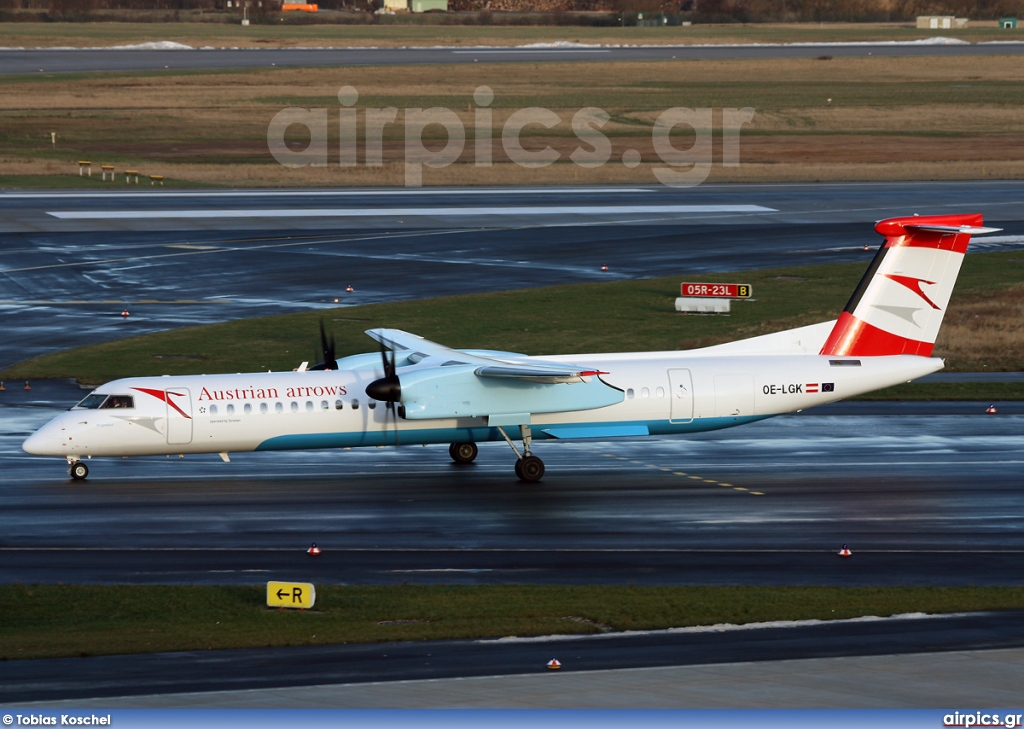 OE-LGK, De Havilland Canada DHC-8-400Q Dash 8, Austrian Arrows (Tyrolean Airways)