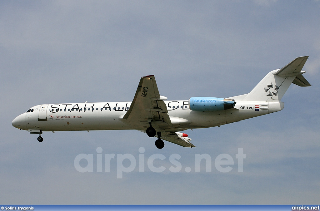 OE-LVG, Fokker F100, Austrian Arrows (Tyrolean Airways)