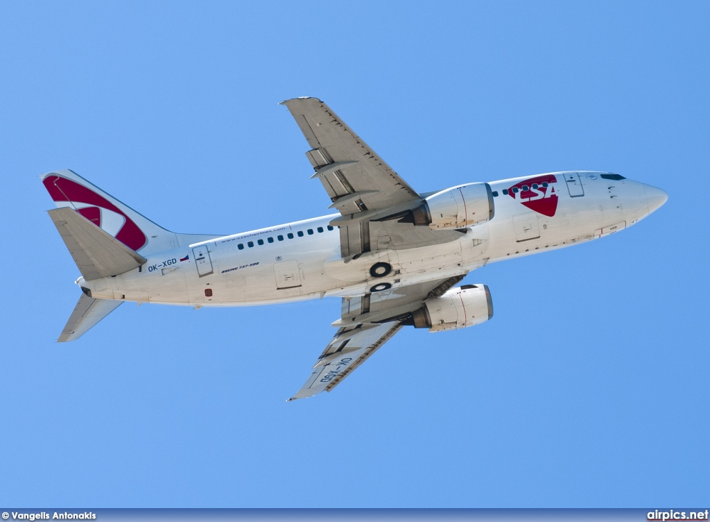OK-XGD, Boeing 737-500, CSA Czech Airlines