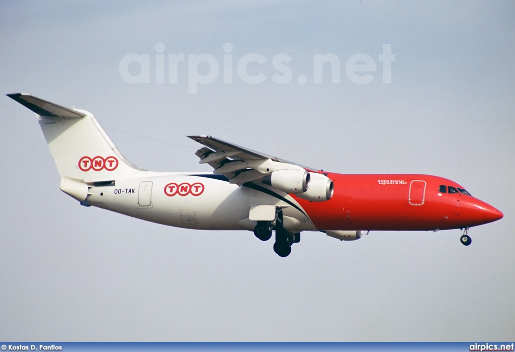 OO-TAK, British Aerospace BAe 146-300, TNT Airways