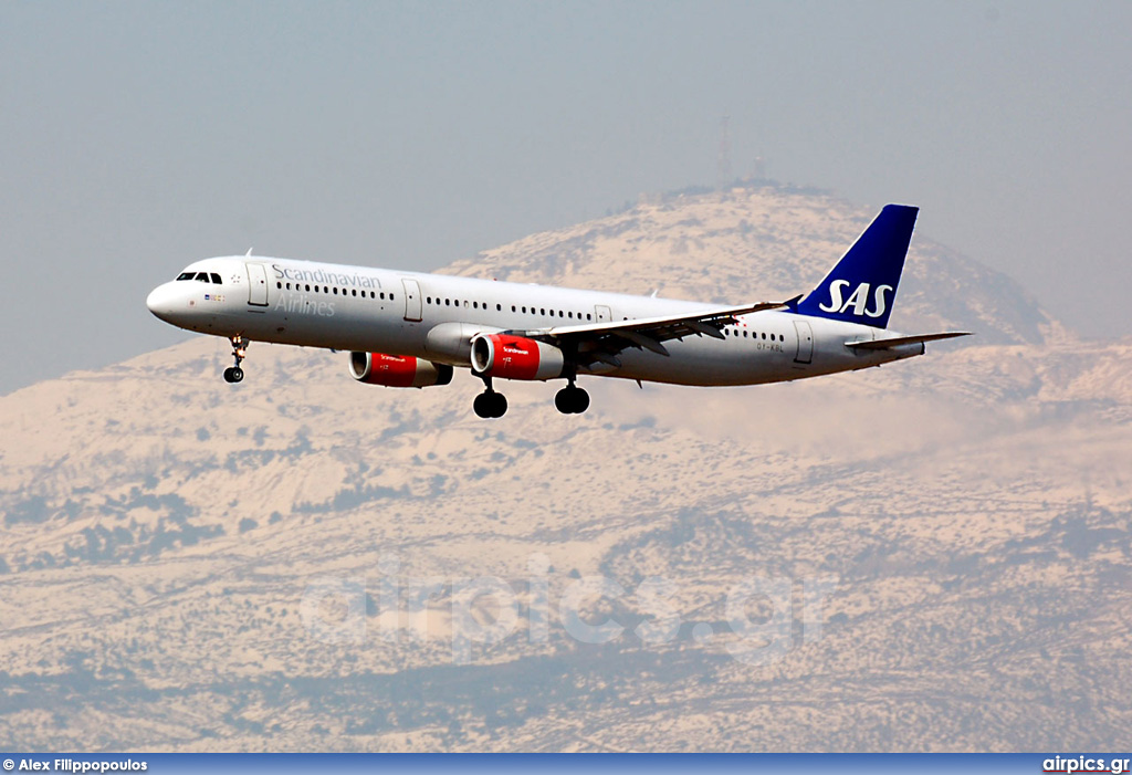 OY-KBL, Airbus A321-200, Scandinavian Airlines System (SAS)