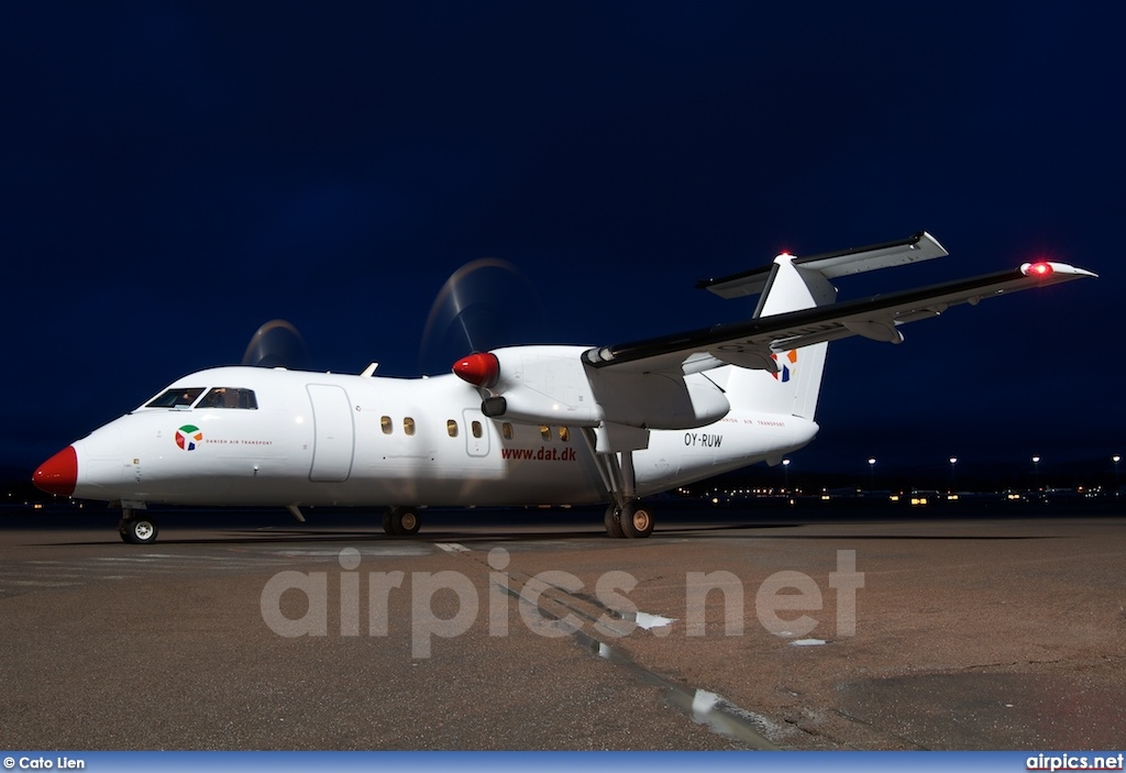 OY-RUW, De Havilland Canada DHC-8-100 Dash 8, Danish Air Transport
