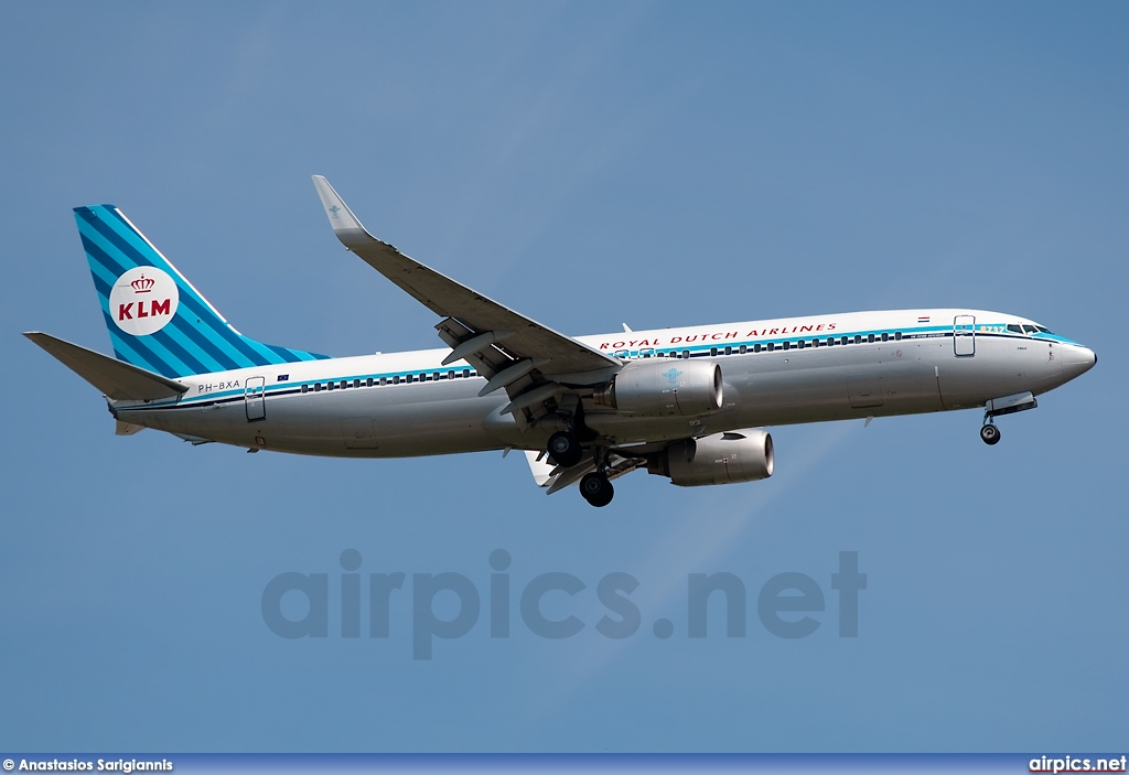 PH-BXA, Boeing 737-800, KLM Royal Dutch Airlines