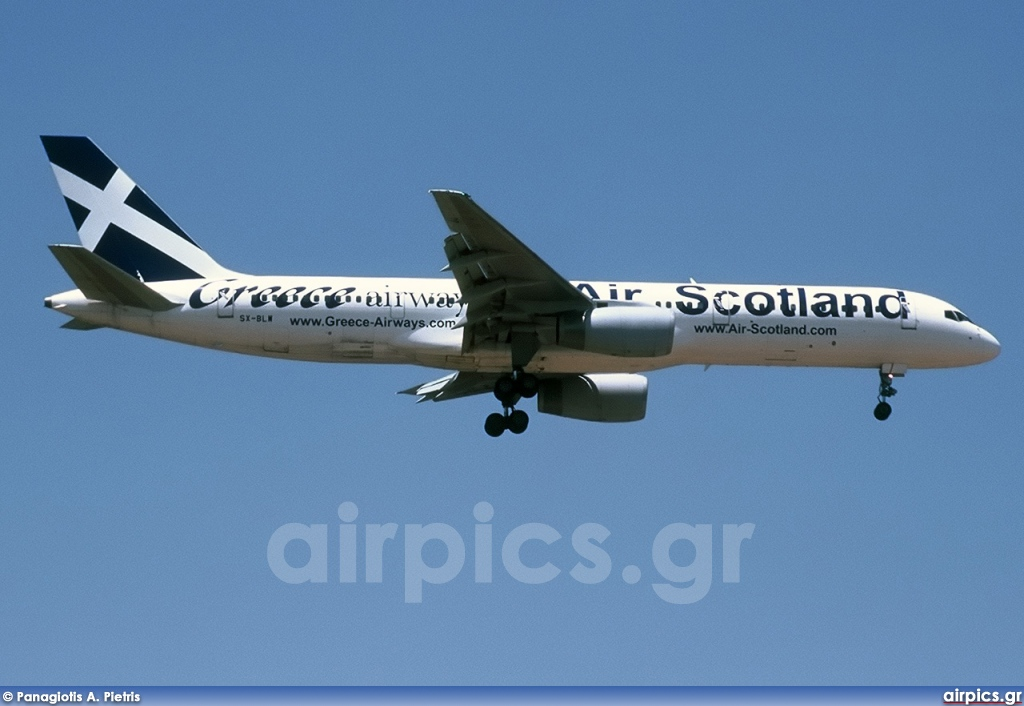 SX-BLW, Boeing 757-200, Greece Airways (Air Scotland)