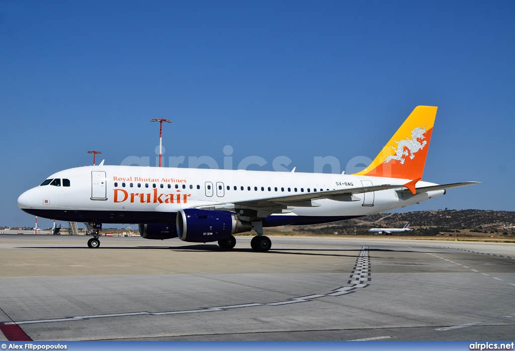 SX-OAG, Airbus A319-100, Druk Air - Royal Bhutan Airlines