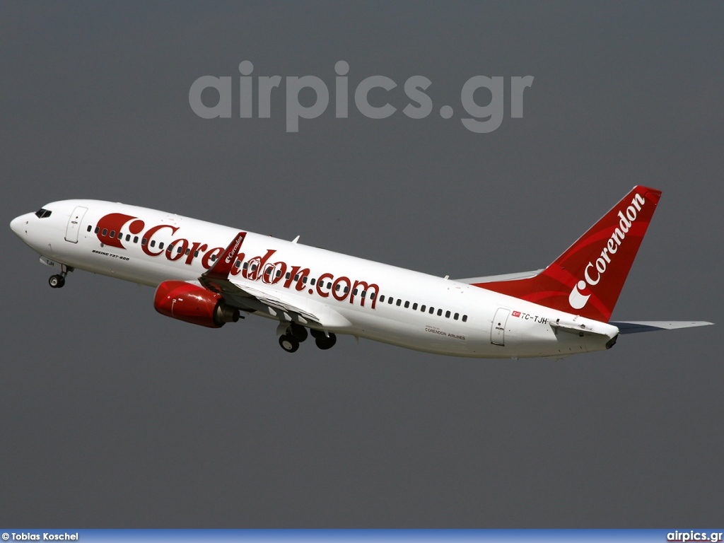 airpics.net - TC-TJH, Boeing 737-800, Corendon Airlines - Large size