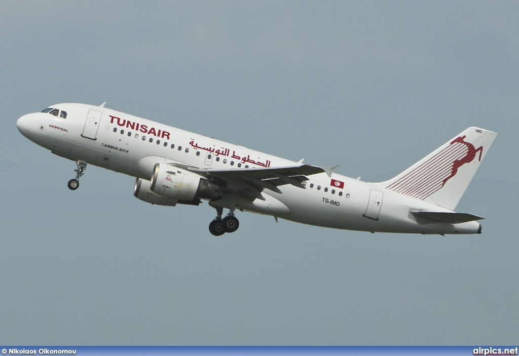 TS-IMO, Airbus A319-100, Tunis Air