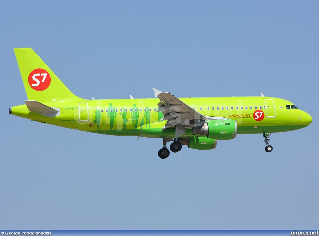 VP-BTO, Airbus A319-100, S7 Siberia Airlines