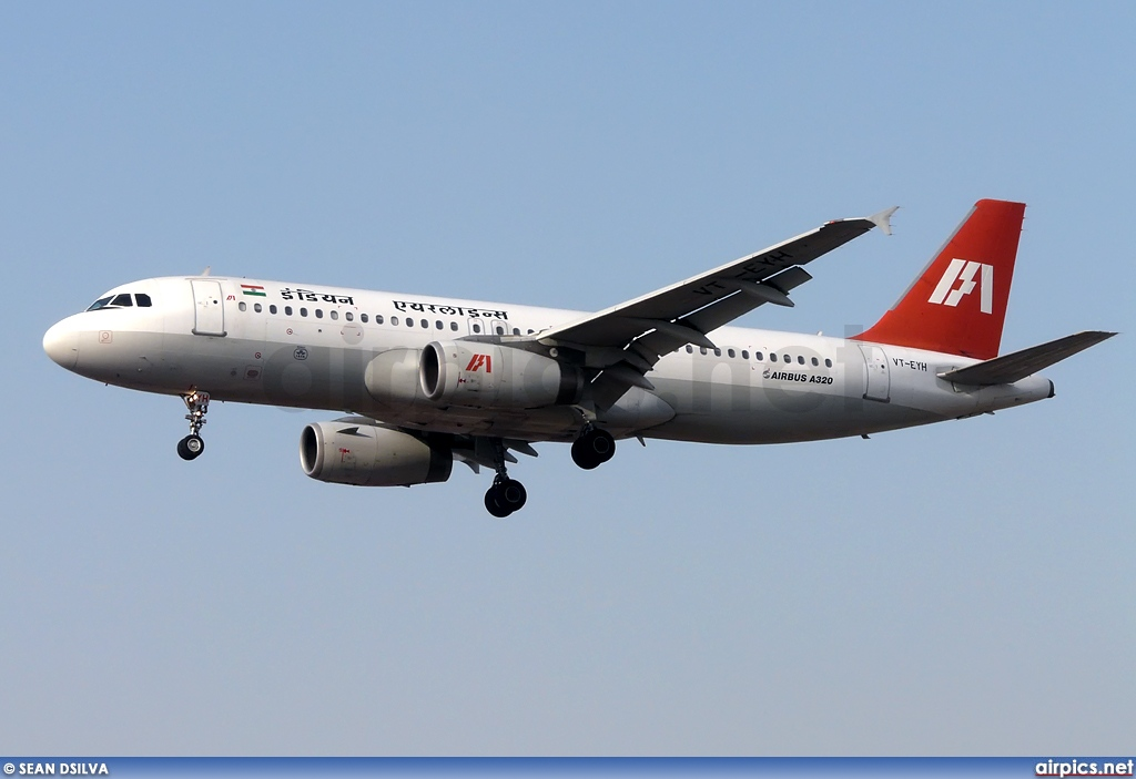 VT-EYH, Airbus A320-200, Indian Airlines
