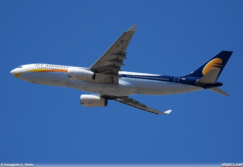 VT-JWE, Airbus A330-200, Jet Airways