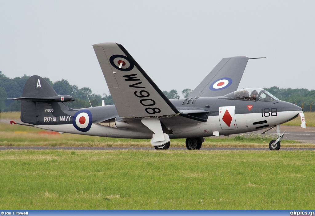 WV908, Hawker Sea Hawk FG.6, Royal Navy - Fleet Air Arm