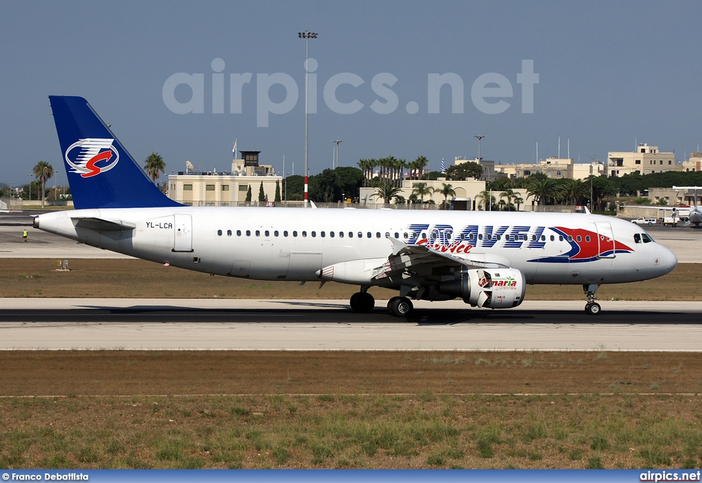 YL-LCA, Airbus A320-200, Travel Service (Czech Republic)