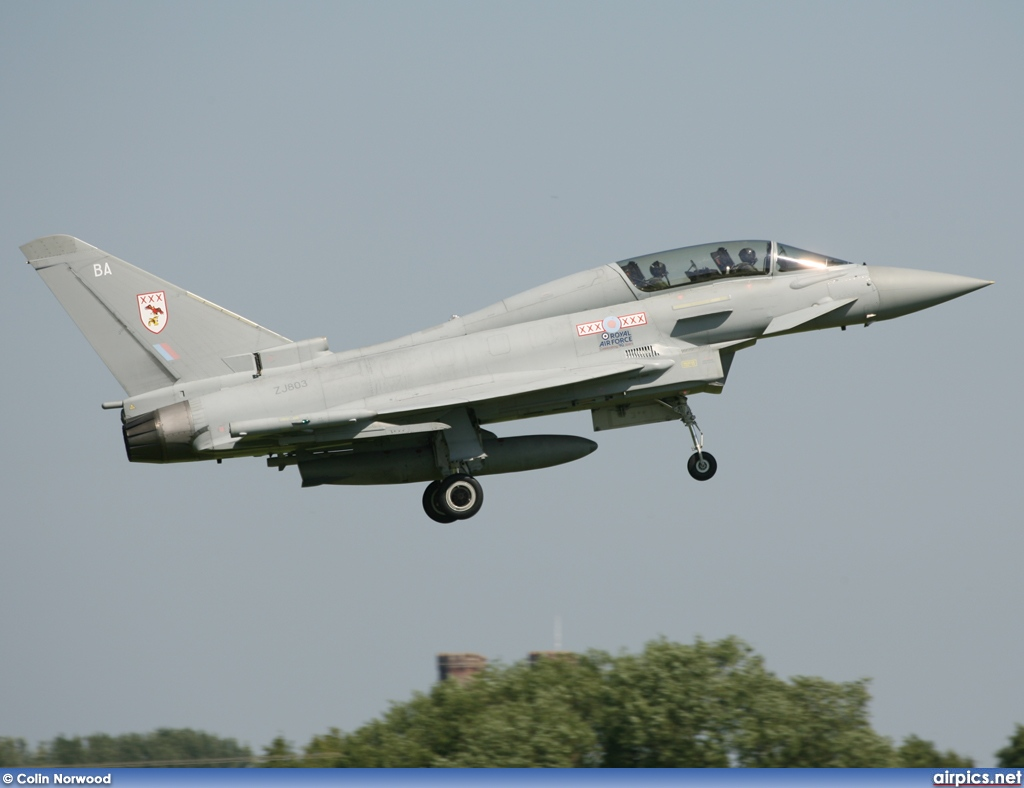 ZJ803, Eurofighter Typhoon T.1, Royal Air Force