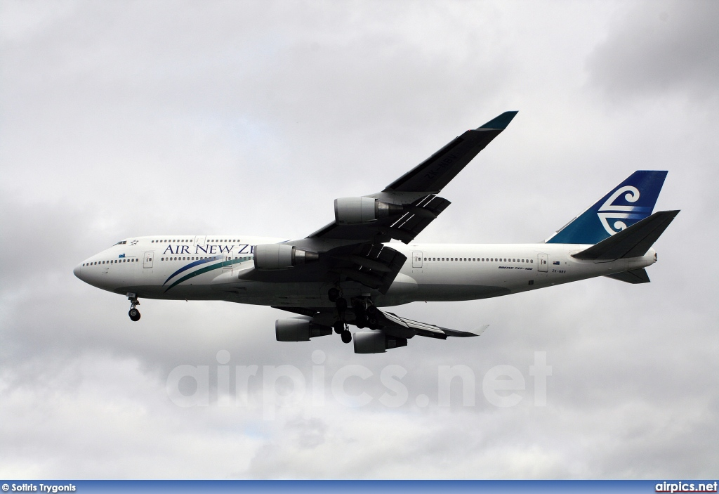 ZK-NBV, Boeing 747-400, Air New Zealand