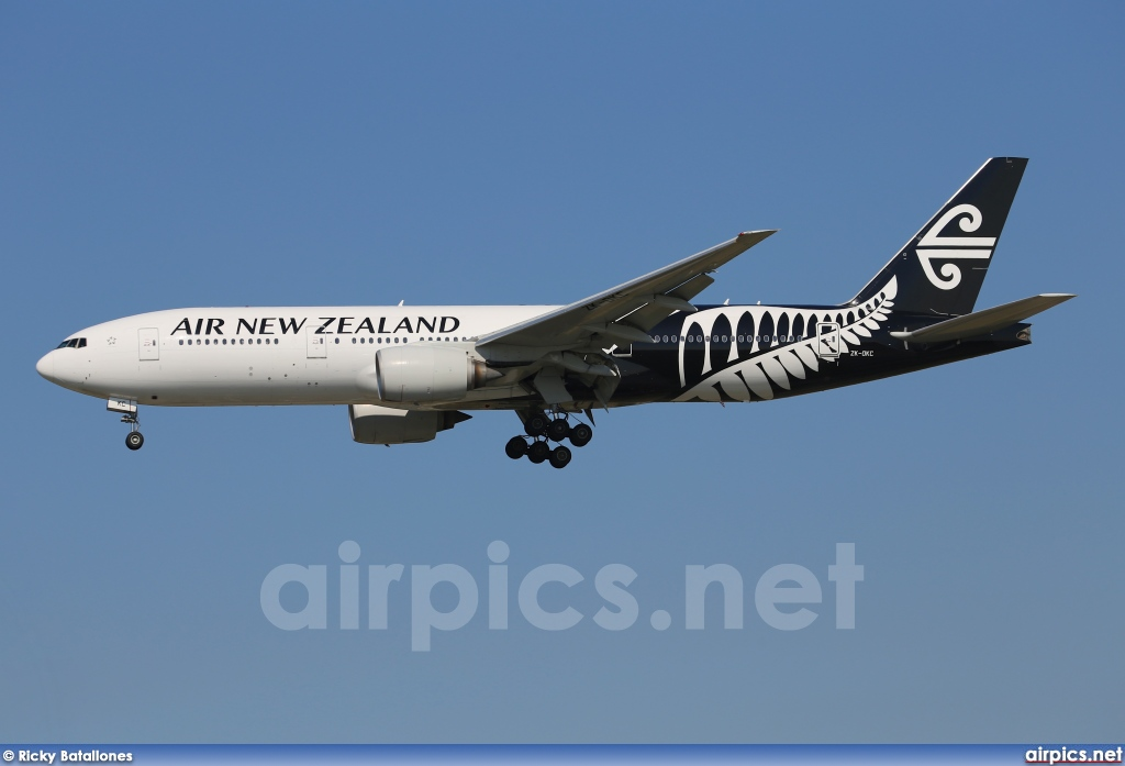 ZK-OKC, Boeing 777-200ER, Air New Zealand