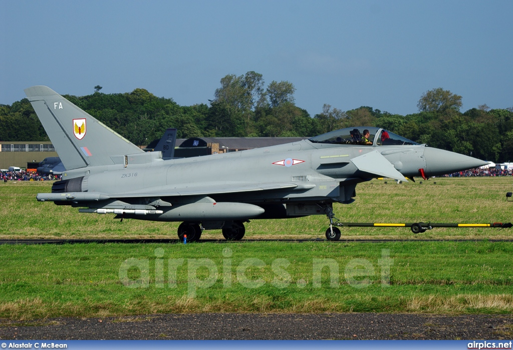 ZK316, Eurofighter Typhoon FGR.4, Royal Air Force