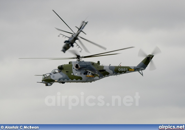 0981, Mil Mi-24V, Czech Air Force