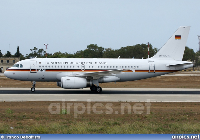 15-01, Airbus A319-100CJ, German Air Force - Luftwaffe