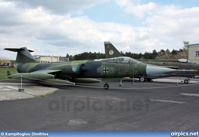 26-49, Lockheed F-104G Starfighter, German Air Force - Luftwaffe