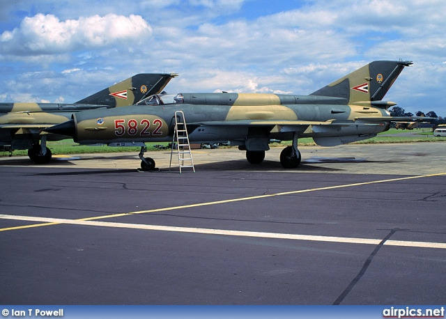 5822, Mikoyan-Gurevich MiG-21bisK, Hungarian Air Force