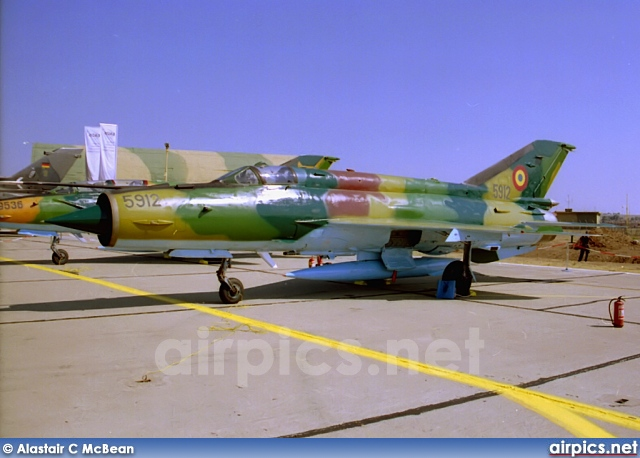 5912, Mikoyan-Gurevich MiG-21MF Lancer A, Romanian Air Force