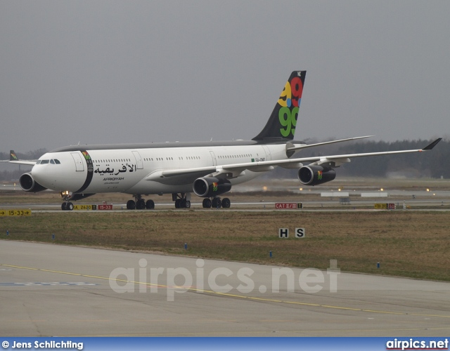 5A-ONE, Airbus A340-200, Afriqiyah Airways