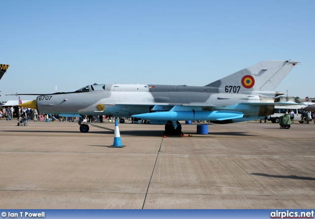 6707, Mikoyan-Gurevich MiG-21MF Lancer C, Romanian Air Force