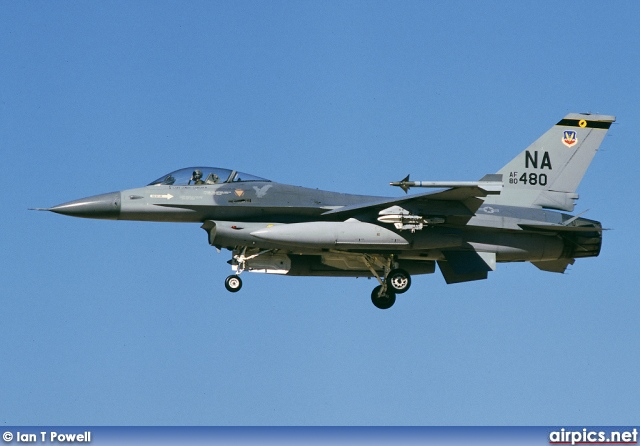 80-0480, Lockheed F-16A CF Fighting Falcon, United States Air Force