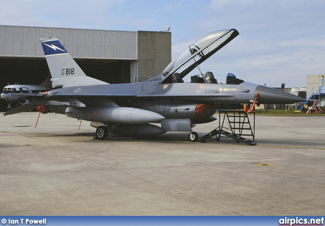81-0818, Lockheed F-16B CF Fighting Falcon, United States Air Force
