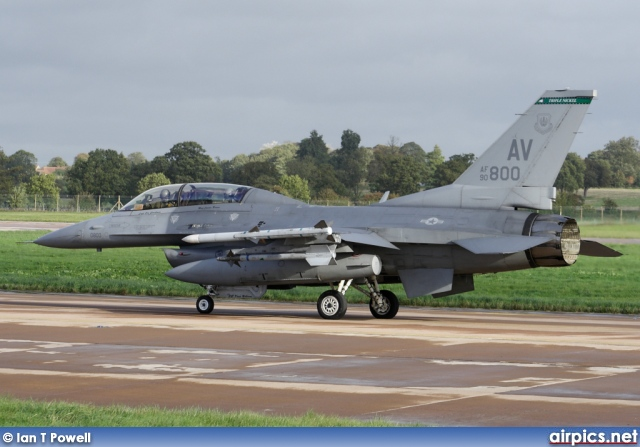90-0800, Lockheed F-16D Fighting Falcon, United States Air Force