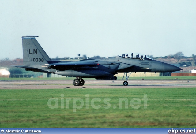 91-0308, Boeing (McDonnell Douglas) F-15E Strike Eagle, United States Air Force