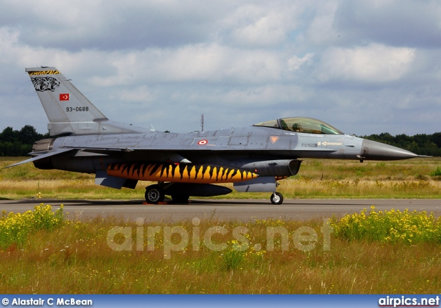 93-0688, Lockheed F-16C Fighting Falcon, Turkish Air Force
