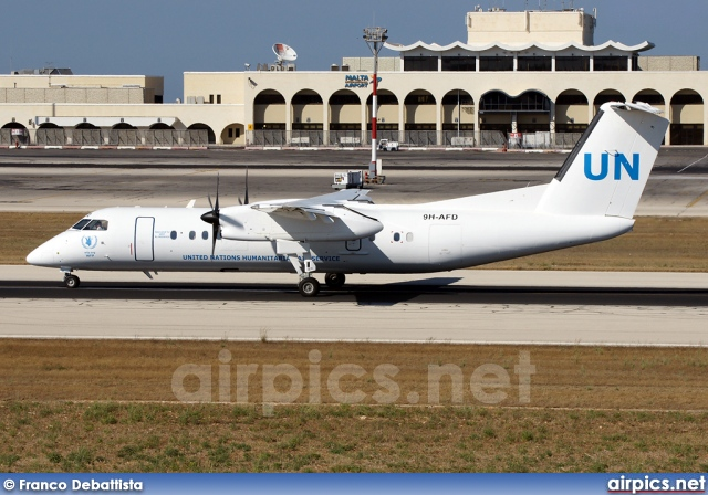 9H-AFD, De Havilland Canada DHC-8-300 Q Dash 8, United Nations