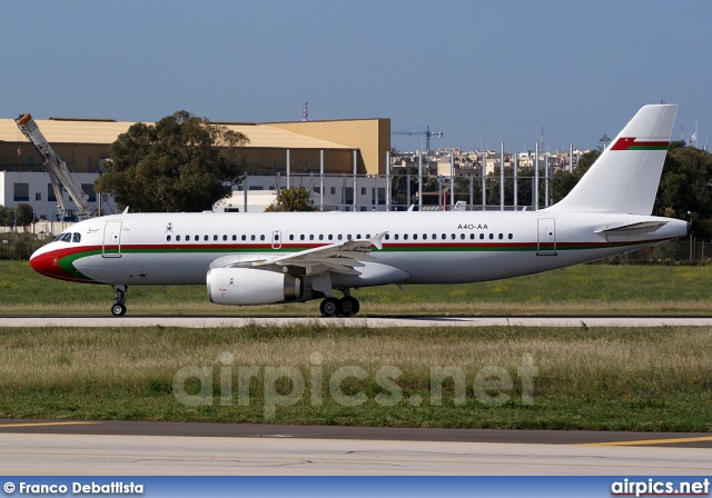 A4O-AA, Airbus A320-200, Oman Royal Flight