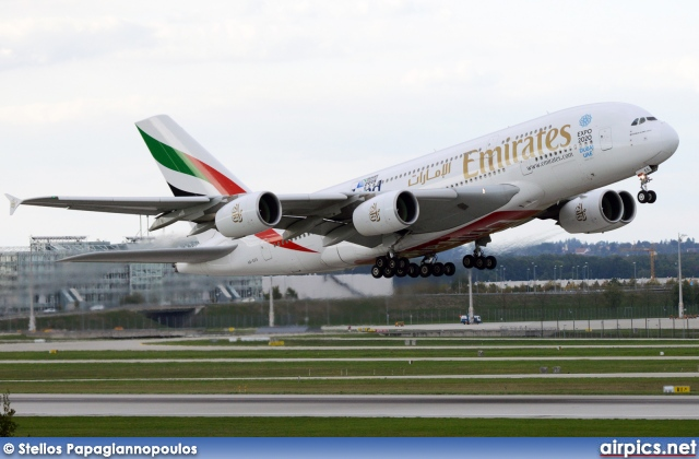 A6-EES, Airbus A380-800, Emirates