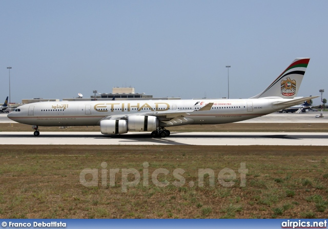 A6-EHC, Airbus A340-500, Etihad Airways