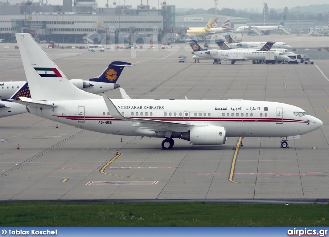 A6-HRS, Boeing 737-700/BBJ, United Arab Emirates