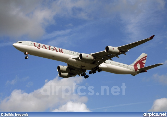 A7-AGB, Airbus A340-600, Qatar Airways