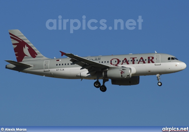 A7-CJA, Airbus A319-100LR, Qatar Airways