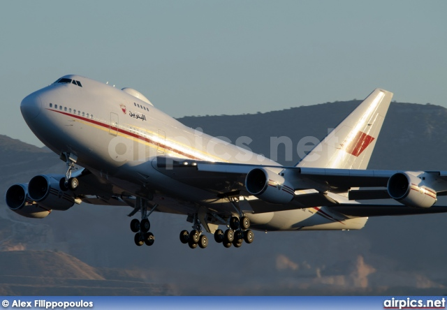A9C-HAK, Boeing 747-SP, Bahrain Royal Flight