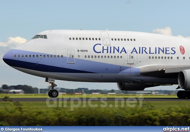 B-18215, Boeing 747-400, China Airlines